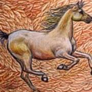 Golden Gallop Art Print