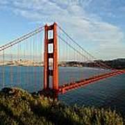 Golden Gate At Sunset Art Print