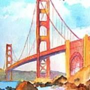 Golden Gate Bridge 3 Art Print