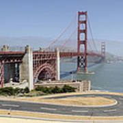 Golden Gate Bridge And Bike Path Art Print