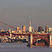 Golden Gate Bridge And San Francisco Panoramic Art Print