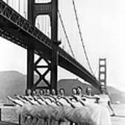 Golden Gate Bridge Ballet Art Print