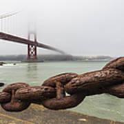 Golden Gate Bridge Chain Art Print