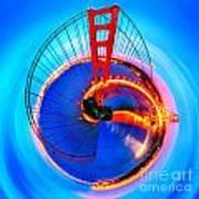 Golden Gate Bridge Circagraph Art Print