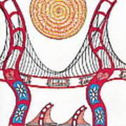 Golden Gate Bridge Dancing In The Wind Art Print