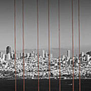 Golden Gate Bridge Panoramic Downtown View Art Print