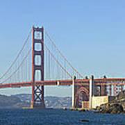 Golden Gate Bridge Panoramic Art Print by Melanie Viola
