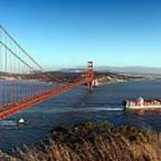 Golden Gate Bridge Scenic View In San Francisco Art Print