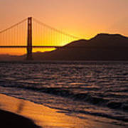 Golden Gate Bridge Sunset Art Print