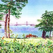 Golden Gate Bridge View From Lincoln Park San Francisco Art Print