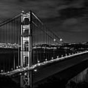 Golden Gate Evening- Mono Art Print
