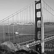 Golden Gate In Bw Art Print