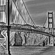 Golden Gate Over The Bay 2 Art Print