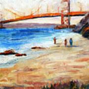 Golden Gate Stroll Art Print