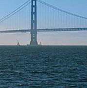 Golden Gate - The Fog Is Lifting Art Print