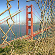 Golden Gate Through The Fence Art Print
