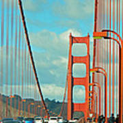 Golden Gate Walkway Art Print