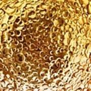 Golden Glass Bubbles Art Print