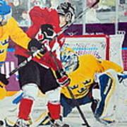 Golden Goal In Sochi Art Print