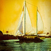 Golden Harbor  Art Print