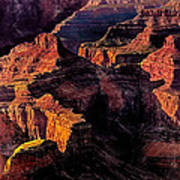 Golden Hour Mather Point Grand Canyon National Park Art Print