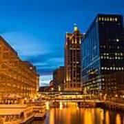 Golden Hour Milwaukee River Art Print