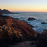 Golden Hour On Garrapata Art Print