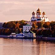 Golden Hour. Yaroslavl. Russia Art Print