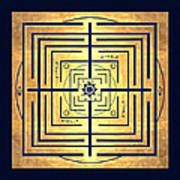 Golden Knowledge Labyrinth Art Print