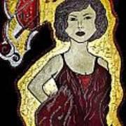 Golden Lady Art Print