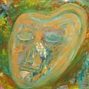 Golden Mask Art Print