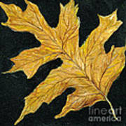 Golden Oak Leaf Art Print