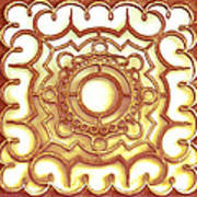 Golden Ornamental Design. Art Print