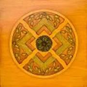 Golden Pattern 1 Art Print