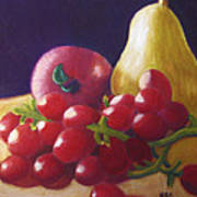 Golden Pear Art Print