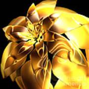 Golden Pineapple By Jammer Art Print
