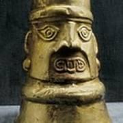 Golden Portrait Vessel. Pre-inca Art Print