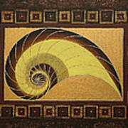 Golden Ratio Spiral Art Print