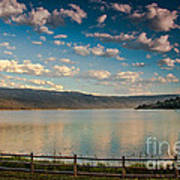 Golden Reflection On Lake Cascade Art Print by Robert Bales