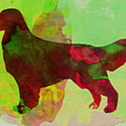 Golden Retriever Watercolor Art Print