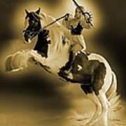 Golden Rider Art Print