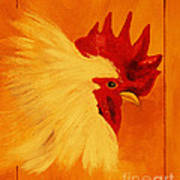 Golden Rooster Art Print