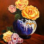 Golden Roses Jenny Lee Discount Art Print