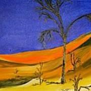 Golden Sand Dune Left Panel Art Print