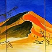 Golden Sand Dune_triptych Art Print