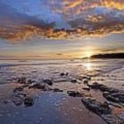 Golden Sky Lyme Regis Art Print