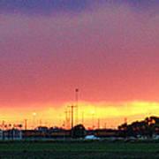 Golden Spike Sunset Art Print