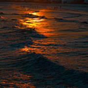 Golden Sun Set Art Print