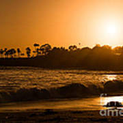 Golden Sunset At Laguna Art Print