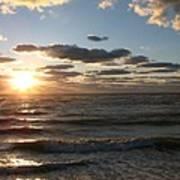 Golden Sunset  Clouds Art Print